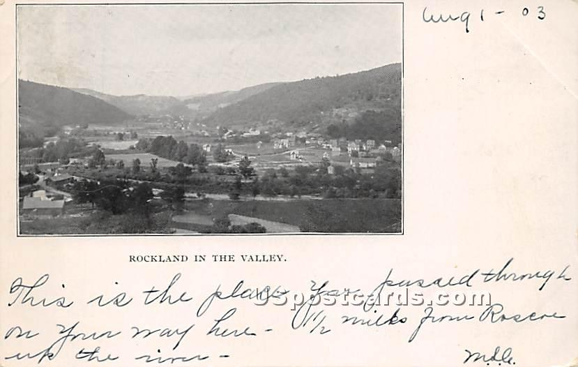 Rockland in the Valley - New York NY Postcard