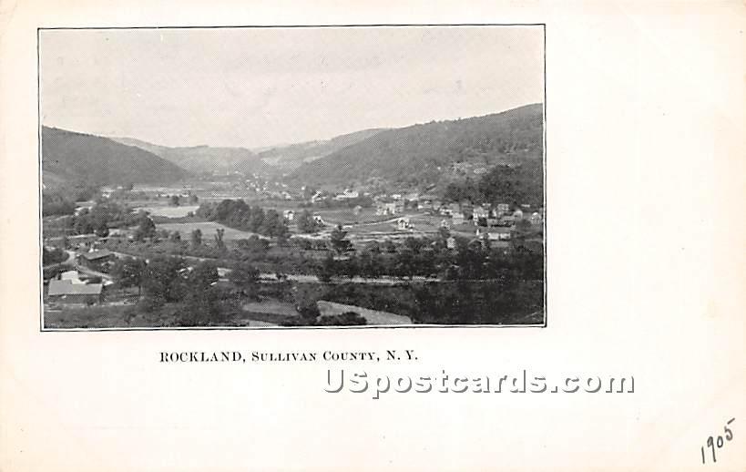 Birds Eye View - Rockland, New York NY Postcard