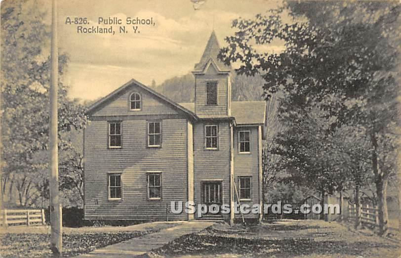 Pubic School - Rockland, New York NY Postcard
