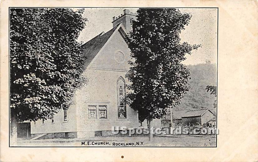 M E Church - Rockland, New York NY Postcard