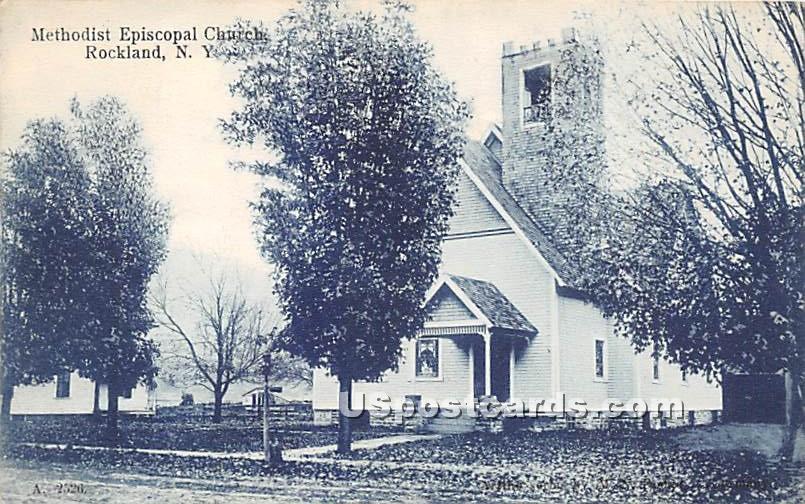 Methodist Episcopal Church - Rockland, New York NY Postcard
