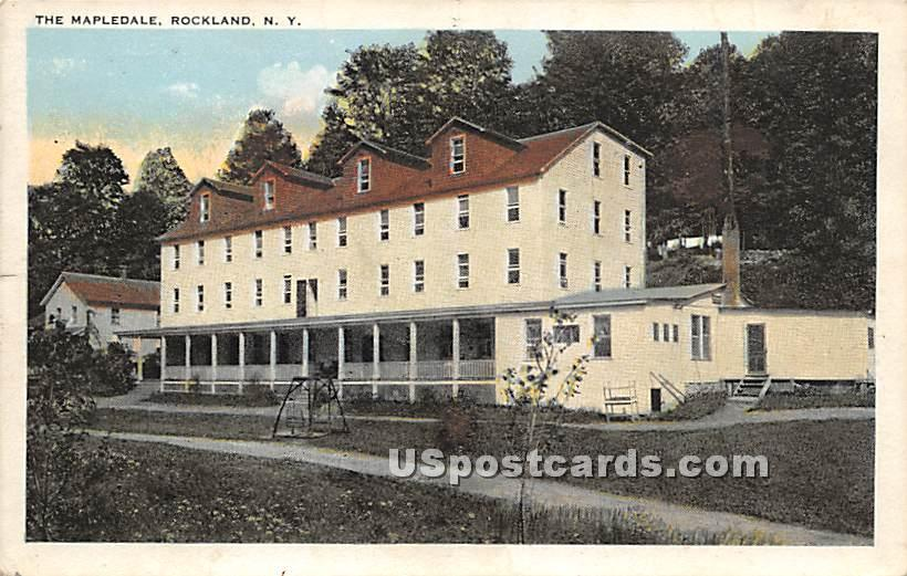 The Mapledale - Rockland, New York NY Postcard