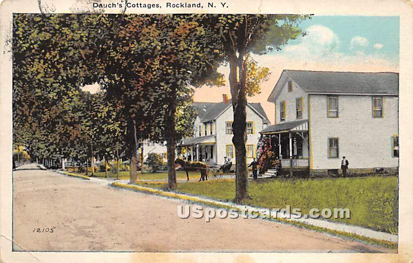 Dauch's Cottage - Rockland, New York NY Postcard