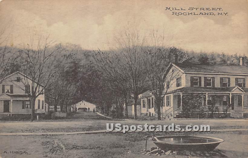 Mill Street - Rockland, New York NY Postcard