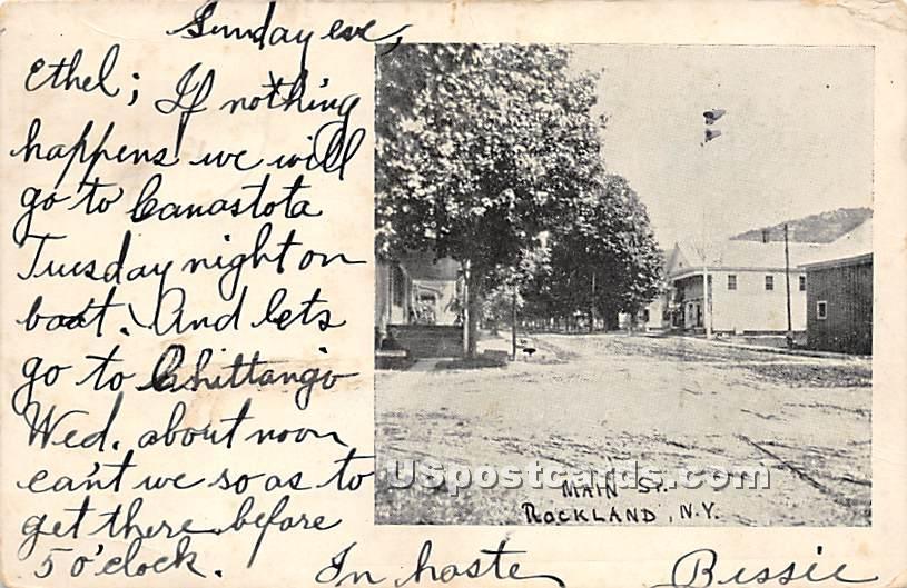Main Street - Rockland, New York NY Postcard