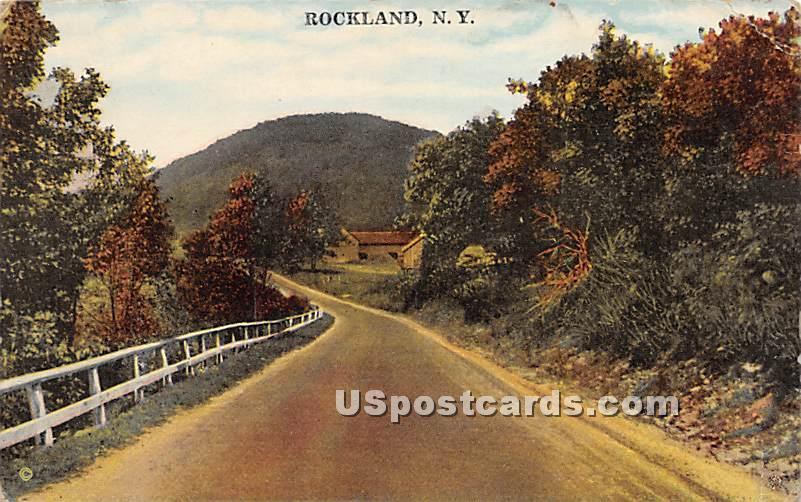 Road Scene - Rockland, New York NY Postcard