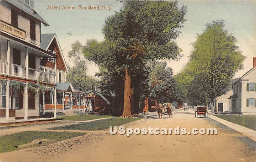 Street Scene - Rockland, New York NY Postcard