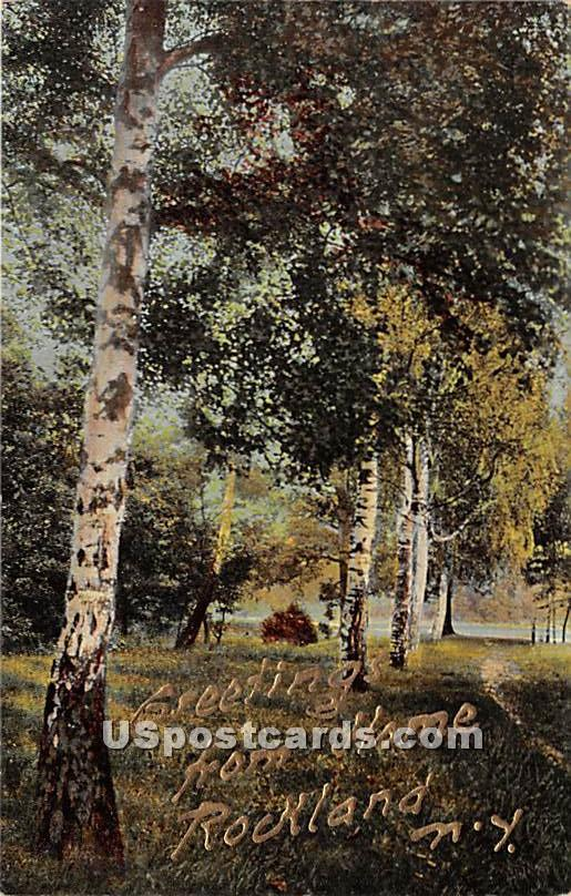Greetings from - Rockland, New York NY Postcard
