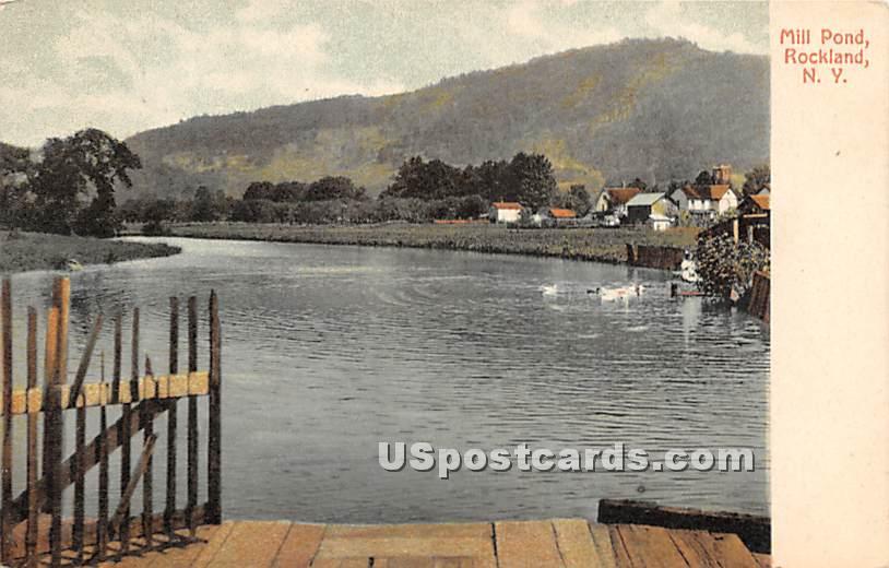 Mill Pond - Rockland, New York NY Postcard