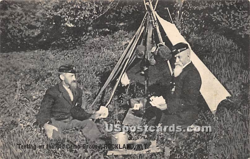Tenting on the Old Camp Ground - Rockland, New York NY Postcard