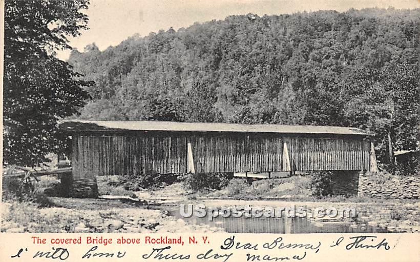 Covered Bridge - Rockland, New York NY Postcard