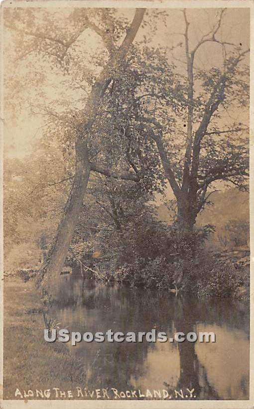 Along the River - Rockland, New York NY Postcard