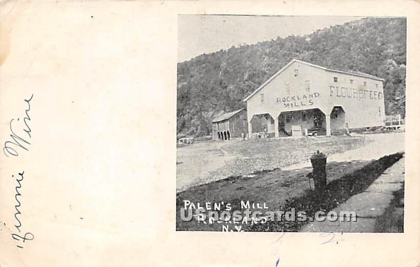 Palen's Mill - Rockland, New York NY Postcard