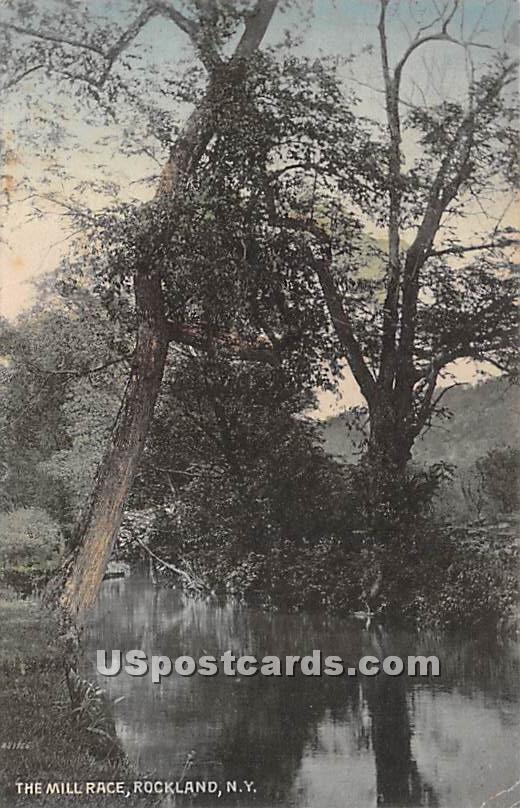 The Mill Race - Rockland, New York NY Postcard