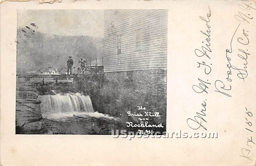 Grist Mill - Rockland, New York NY Postcard