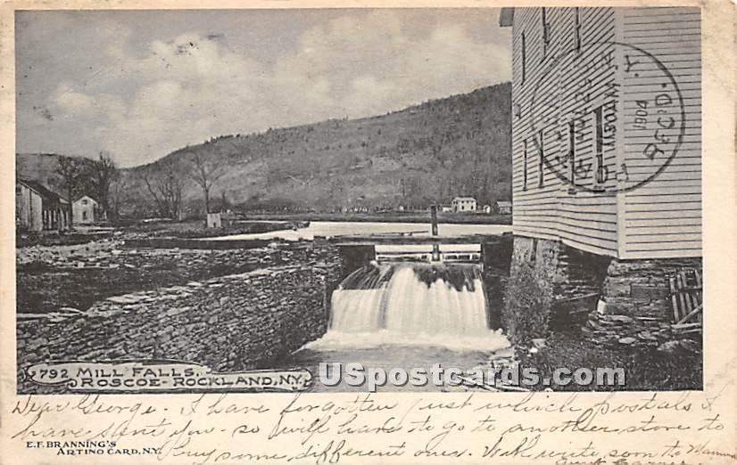 Mill Falls - Rockland, New York NY Postcard