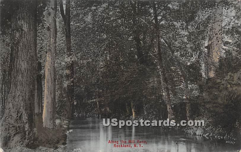 Along the Mill Race - Rockland, New York NY Postcard
