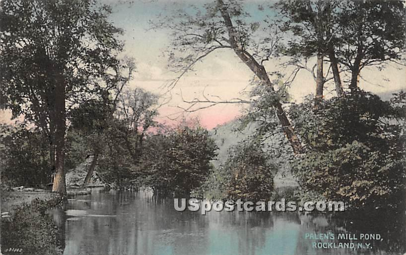 Palen's Mill Pond - Rockland, New York NY Postcard
