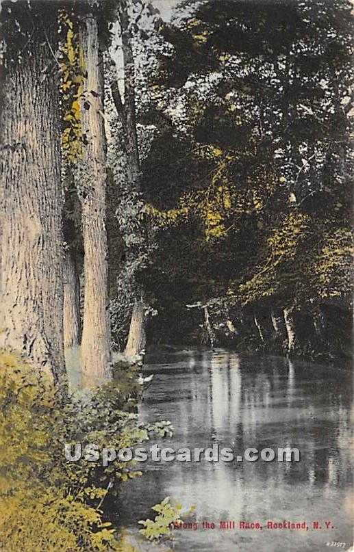 Along the Mill - Rockland, New York NY Postcard