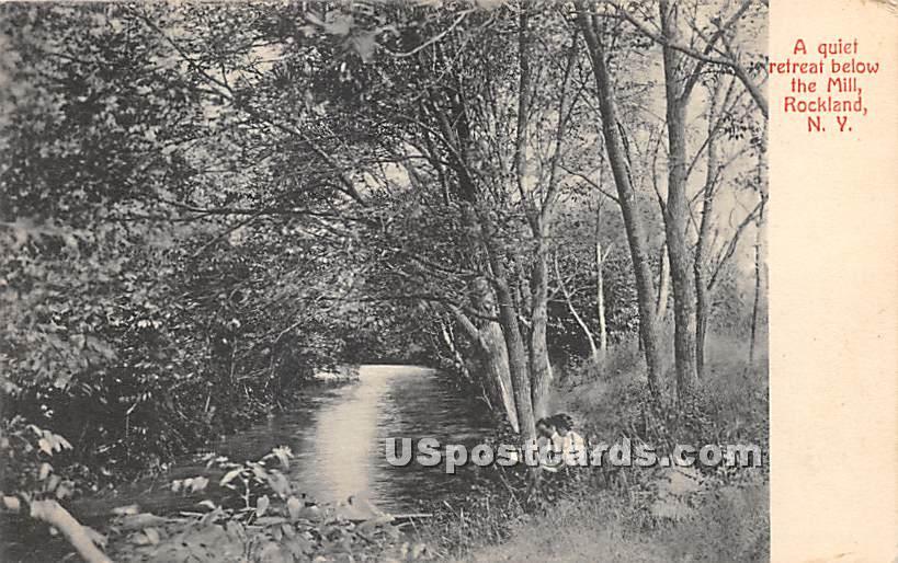 Quiet retreat below the Mill - Rockland, New York NY Postcard