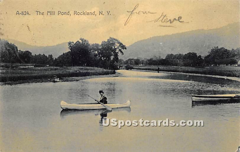 The Mill Pond - Rockland, New York NY Postcard