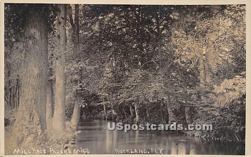 Mill Race Palen's Mill - Rockland, New York NY Postcard