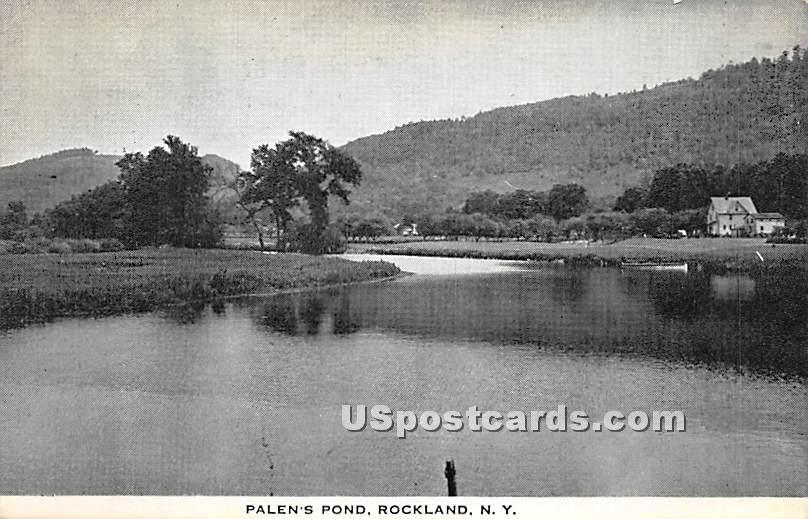 Palen's Pond - Rockland, New York NY Postcard