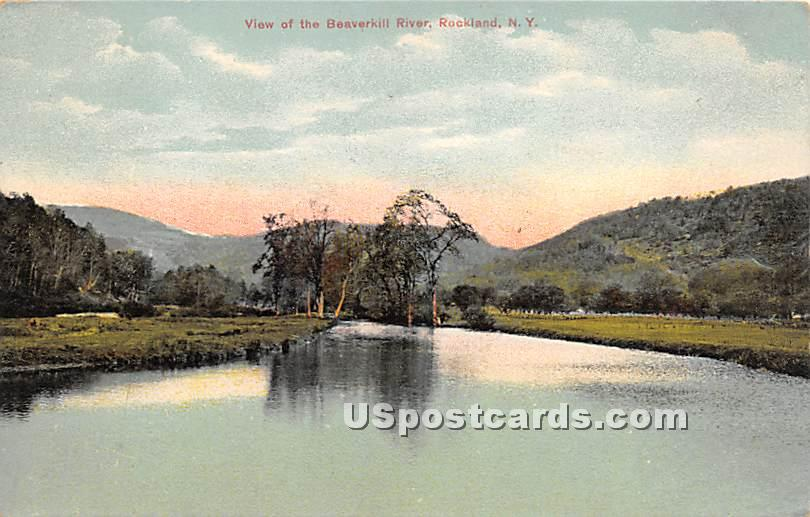 View of the Beaverkill River - Rockland, New York NY Postcard