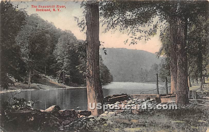 The Beaverkill River - Rockland, New York NY Postcard