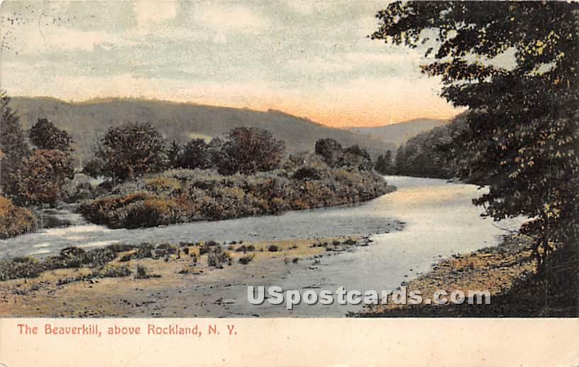 The Beaverkill - Rockland, New York NY Postcard