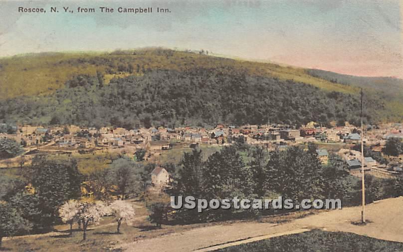From the Campbell Inn - Roscoe, New York NY Postcard