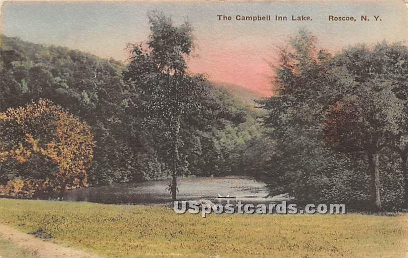 The Campbell Inn Lake - Roscoe, New York NY Postcard
