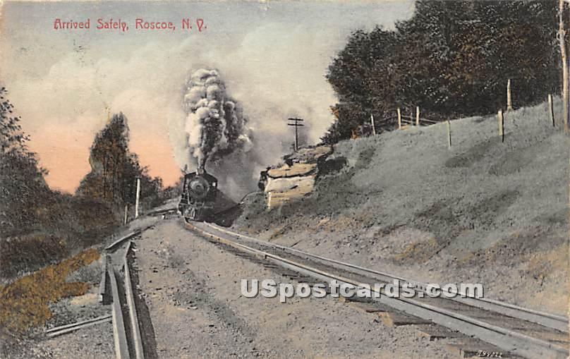 Arrived Safety - Roscoe, New York NY Postcard
