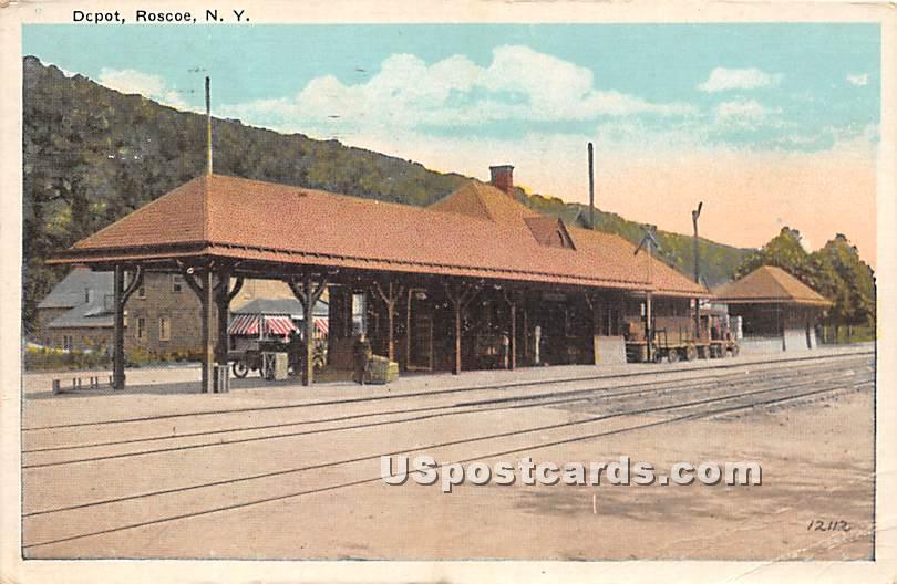 Depot - Roscoe, New York NY Postcard