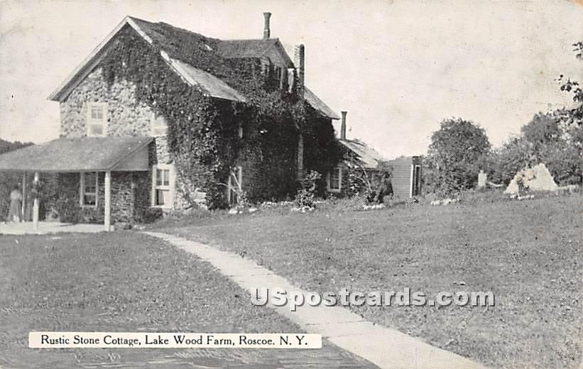 Rustic Stone Cottage - Roscoe, New York NY Postcard
