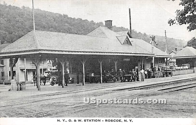 O & W Station - Roscoe, New York NY Postcard