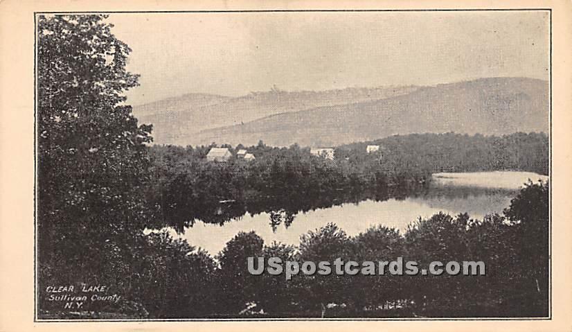 Clear Lake - Roscoe, New York NY Postcard