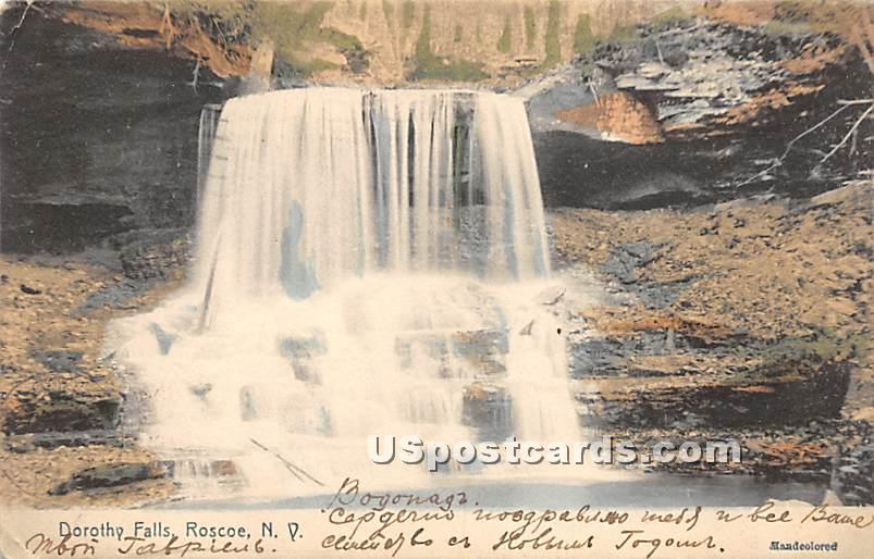 Dorothy Falls - Roscoe, New York NY Postcard