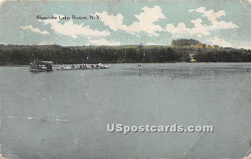 Shandelee Lake - Roscoe, New York NY Postcard