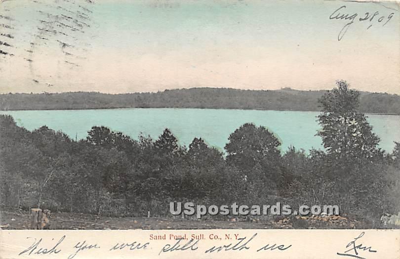 Sand Pond - Roscoe, New York NY Postcard