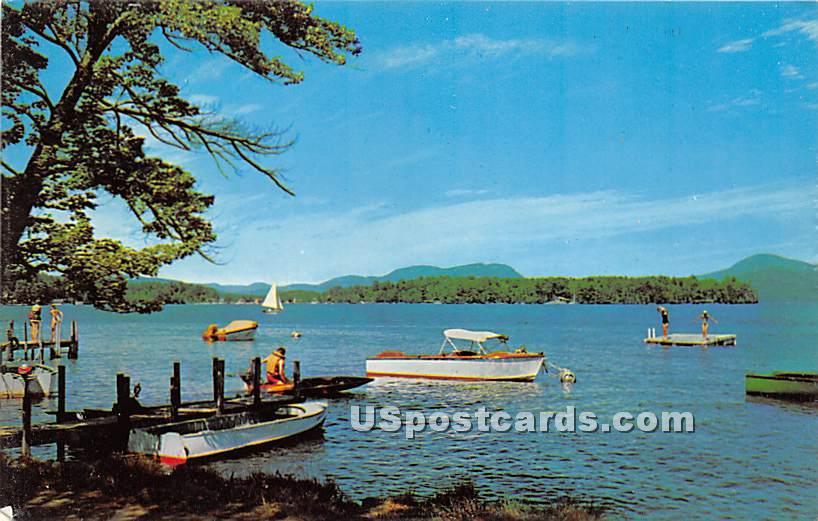 Tennanah Lake and Lake Muskoday - Roscoe, New York NY Postcard