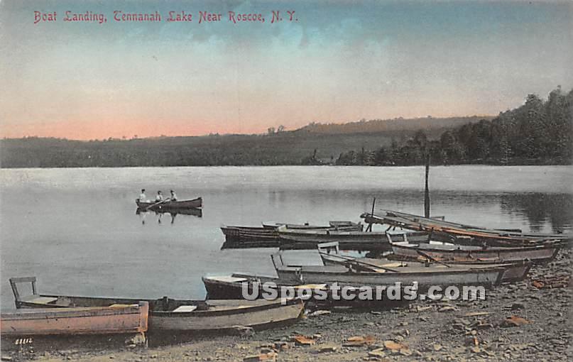 Boat Landing - Roscoe, New York NY Postcard