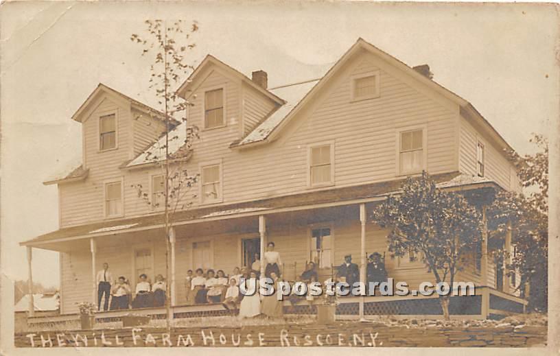 Will Farm House - Roscoe, New York NY Postcard