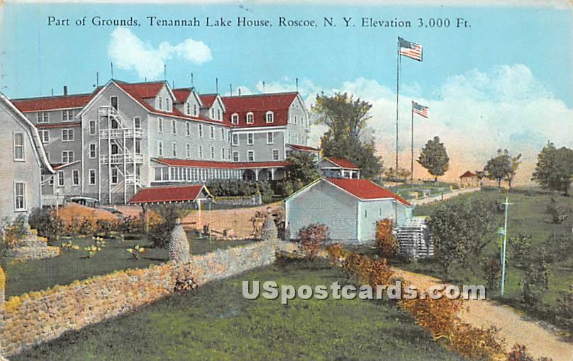 Part of Grounds - Roscoe, New York NY Postcard