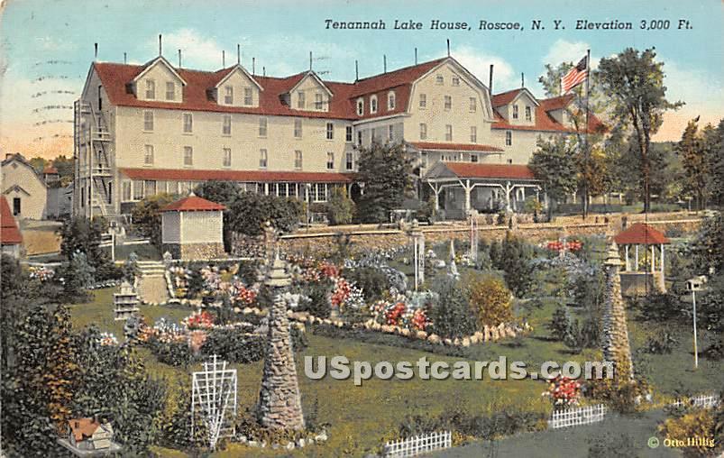 Tenannah Lake House - Roscoe, New York NY Postcard