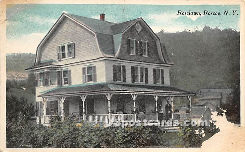 Roselawn - Roscoe, New York NY Postcard