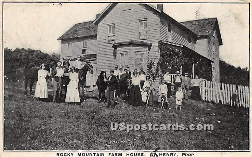 Rocky Mountain Farm House - Roscoe, New York NY Postcard