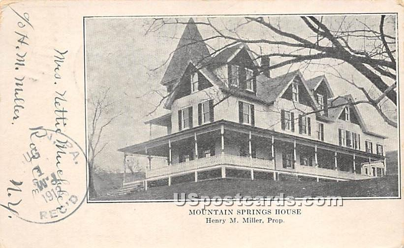 Mountain - Roscoe, New York NY Postcard