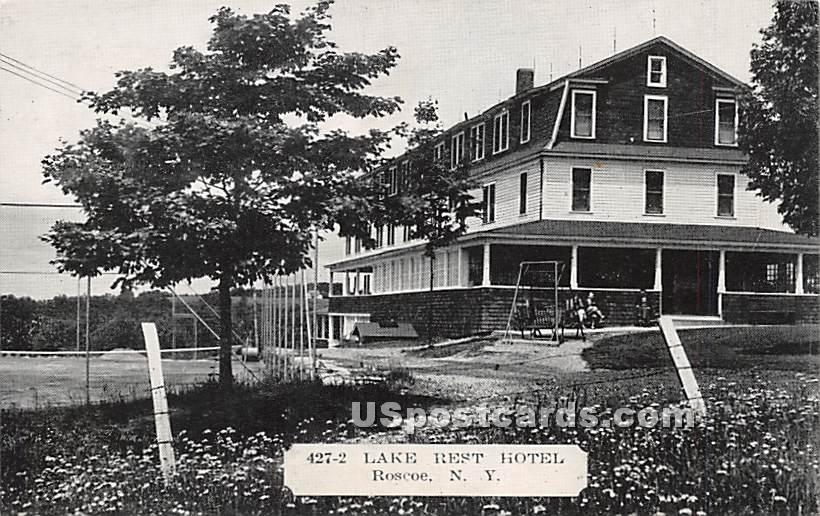 Lake Rest Hotel - Roscoe, New York NY Postcard