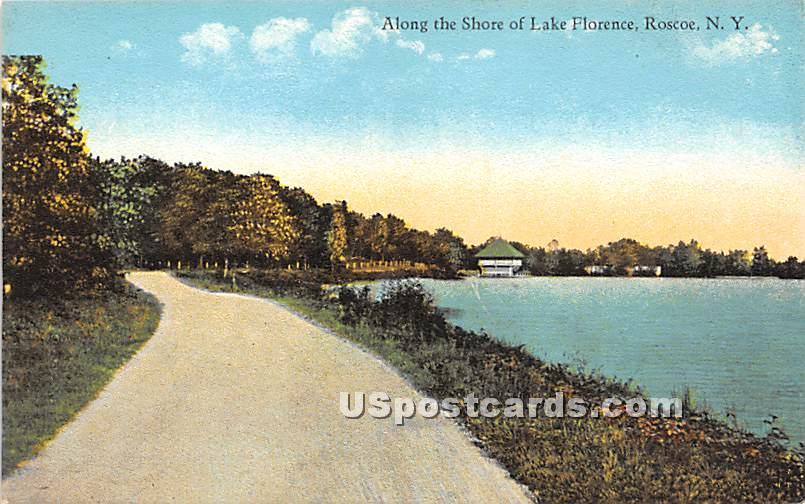 Along the Shore - Roscoe, New York NY Postcard